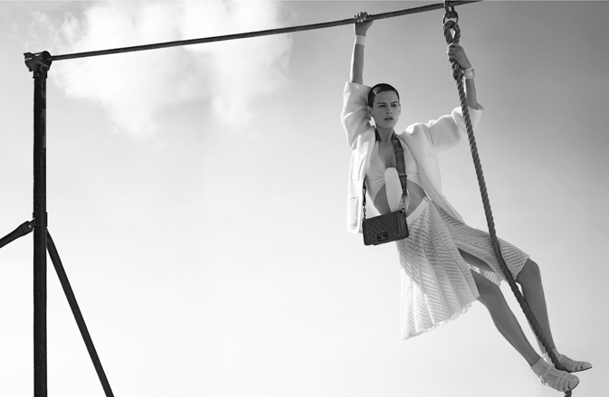 Saskia de Brauw & Joan Smalls for Chanel Spring 2012 Campaign by Karl Lagerfeld