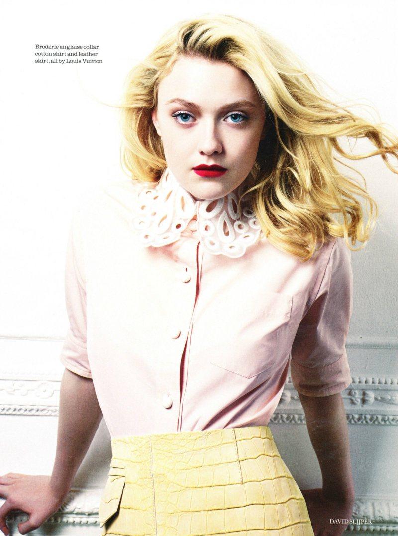Dakota Fanning by David Slijper for Elle UK February 2012