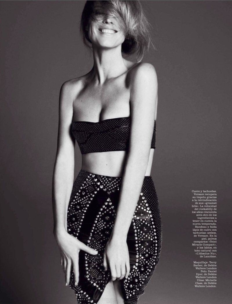 Eva Herzigova by David Roemer for Marie Claire Spain January 2012