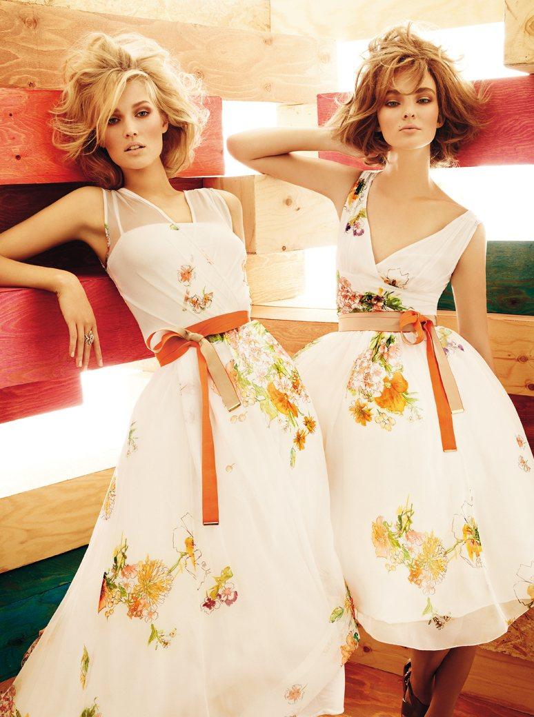 Toni Garrn & Ymre Stiekema for Max Mara Studio Spring 2012 Campaign by Giampaolo Sgura