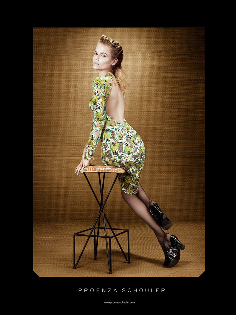 Natasha Poly for Proenza Schouler Spring 2012 Campaign by Willy Vanderperre
