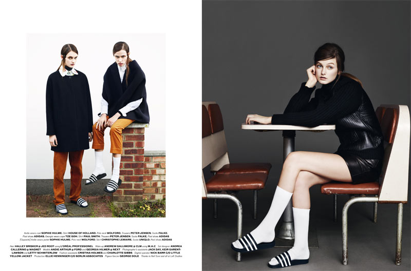 Andie Arthur & Georgia Hilmer by Aitken Jolly for b Magazine #5