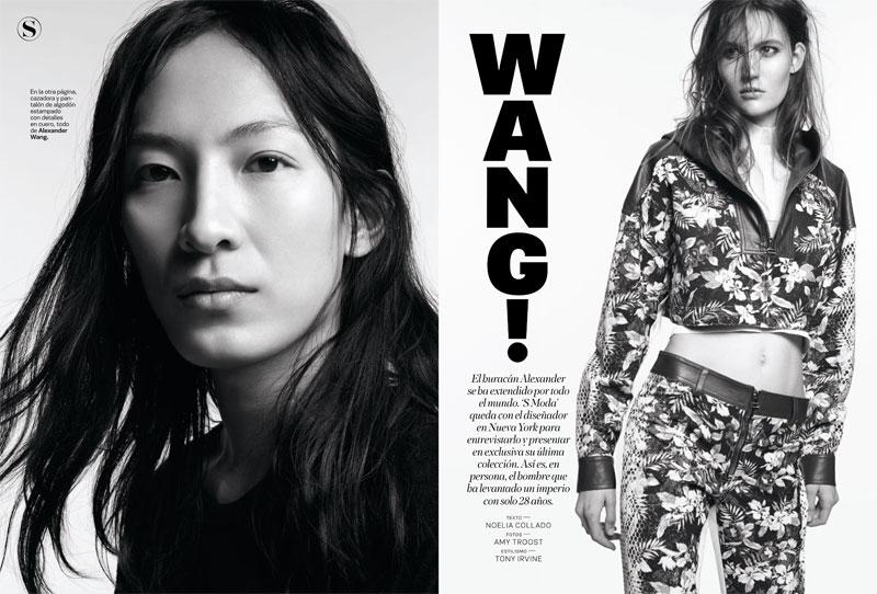 Alexander Wang & Liya Kebede Cover S Moda January 2012