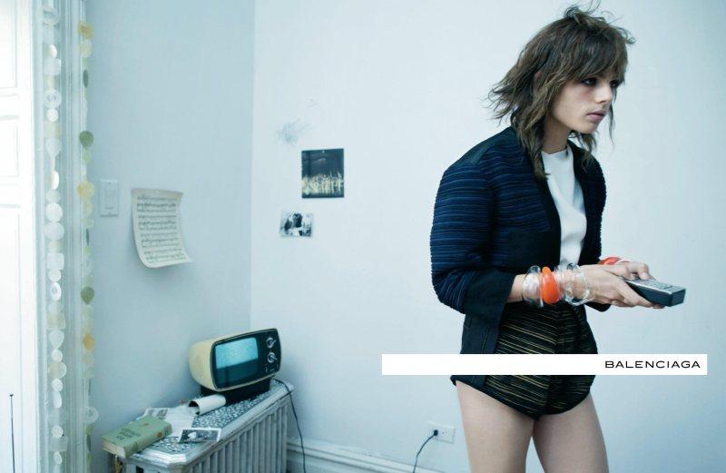 Juliane Gruner, Laura Kampman, Rosie Tapner & Kirstin Liljegren for Balenciaga Spring 2012 Campaign by Steven Meisel