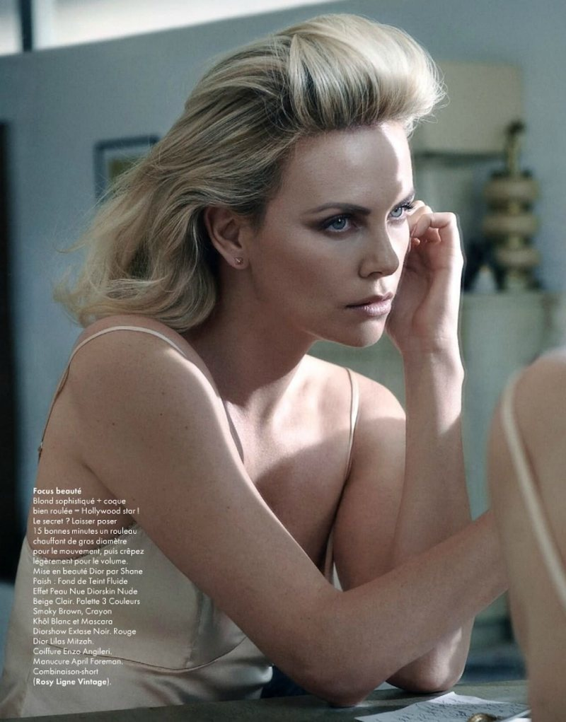 Charlize Theron by Mark Seliger for Elle France January 2012