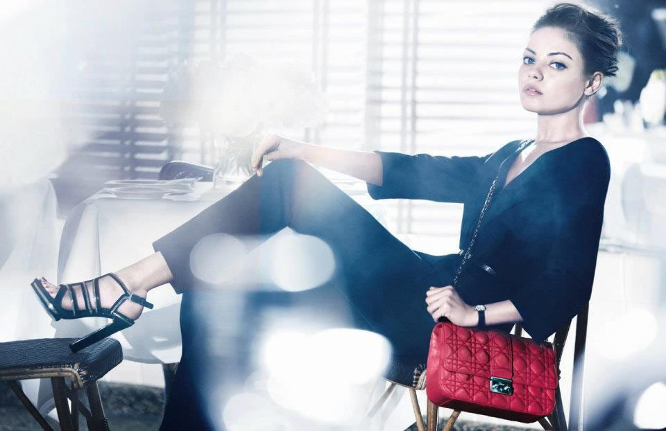 Mila Kunis for Miss Dior Handbags Spring 2012 Campaign by Mikael Jansson