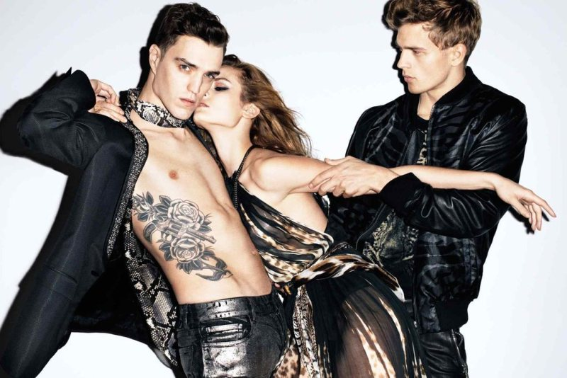 Jac Jagaciak, Lindsey Wixson & Ruby Aldridge for Just Cavalli Spring 2012 Campaign by Terry Richardson