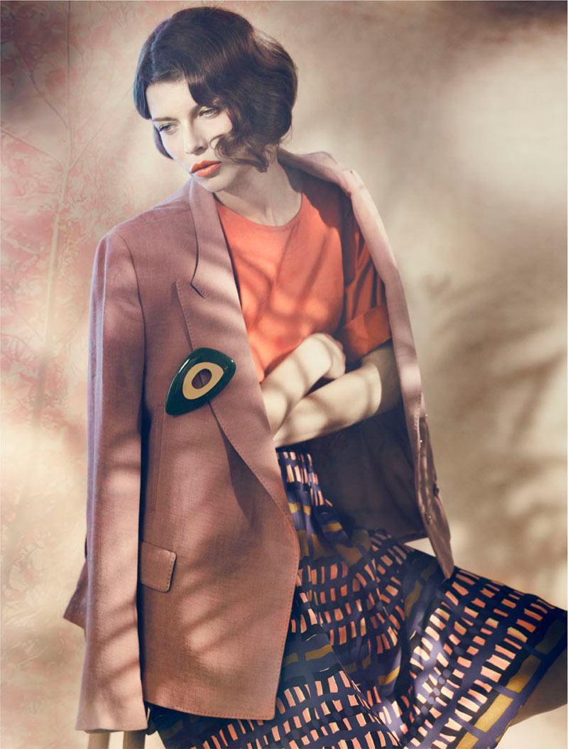 Louise Pedersen by Signe Vilstrup for Elle Denmark January 2012