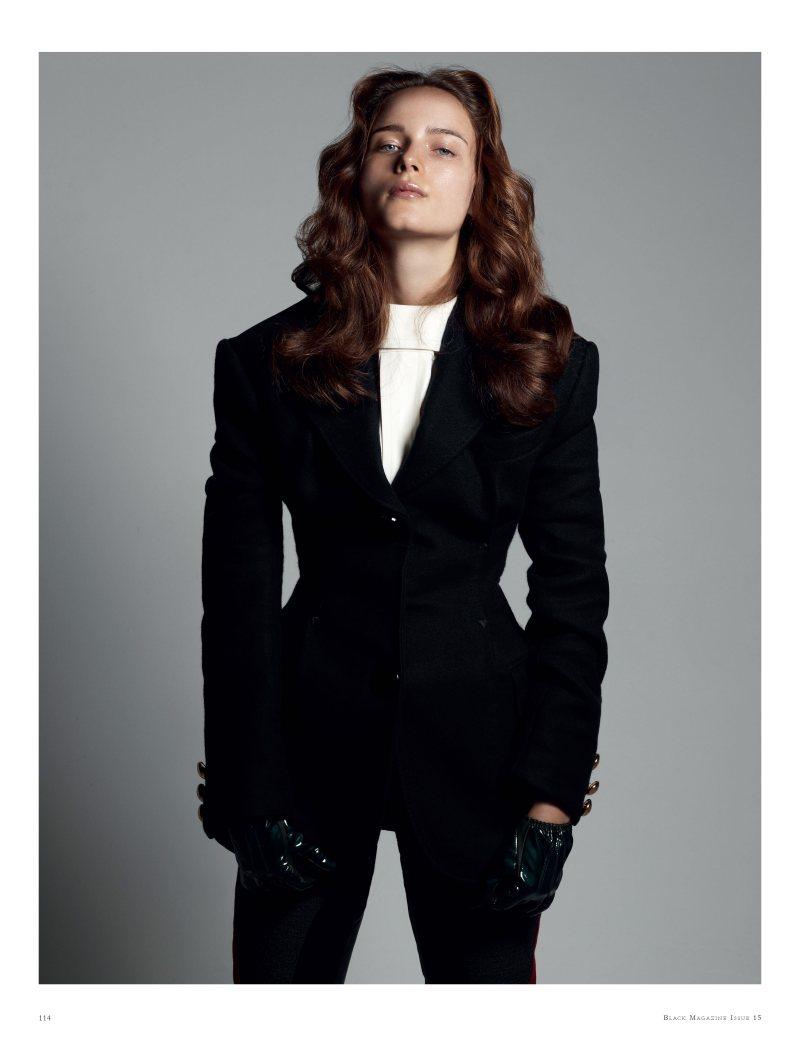 Anna de Rijk by Paul Empson in Louis Vuitton for Black Magazine #15