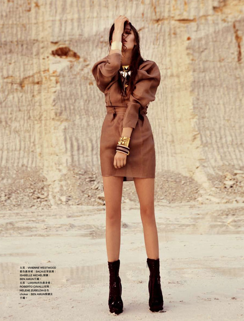 Beegee Margenyte by Tina Luther for Harper's Bazaar Hong Kong February 2012