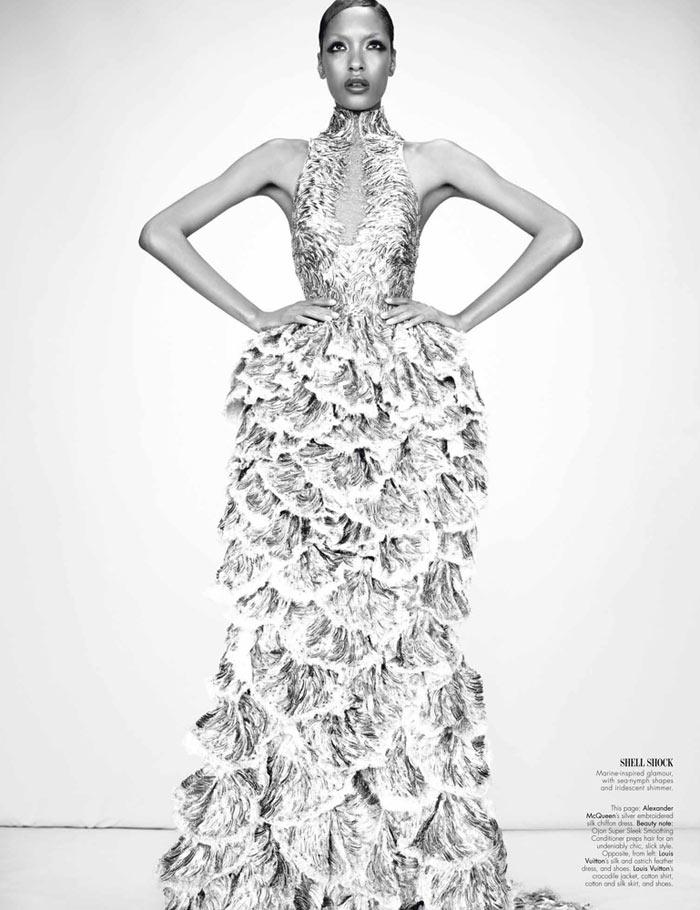 Lily Donaldson, Jourdan Dunn, Cara Delevingne & Nyasha Matonhodze by Emma Summerton for W Magazine