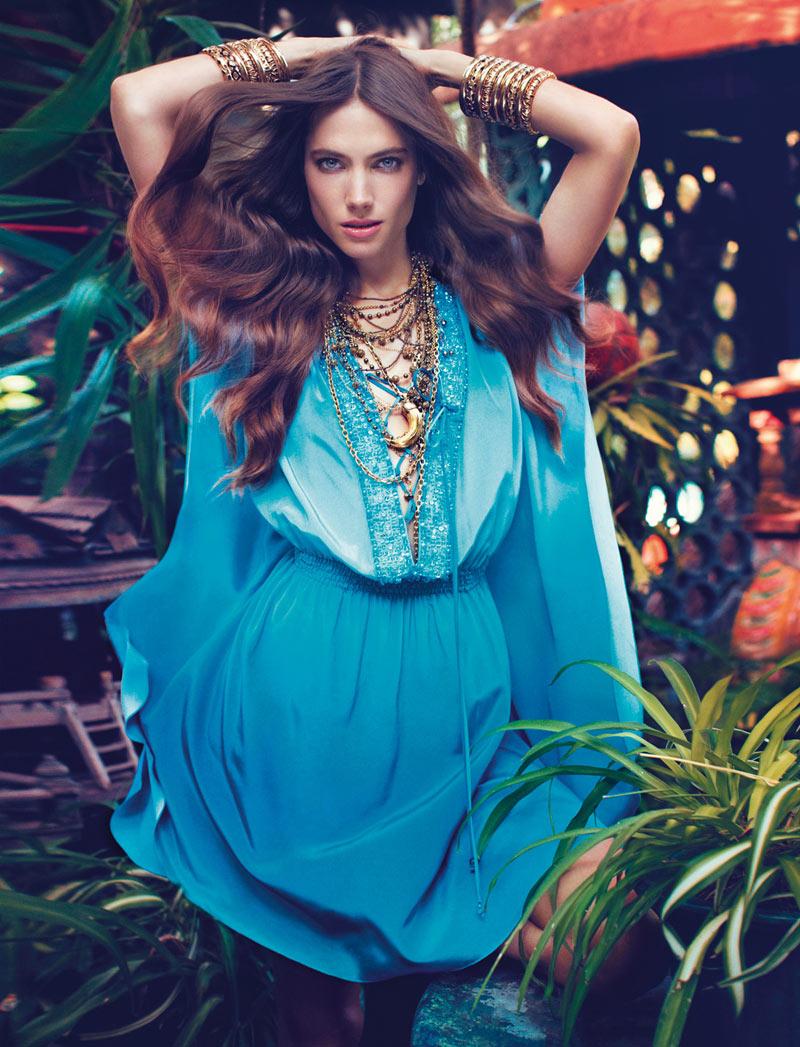 Jessica Miller for Blugirl Spring 2012 Campaign by Michelangelo di Battista