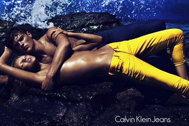 Lara Stone & Toni Garrn for Calvin Klein Jeans Spring 2012 Campaign by Mert & Marcus