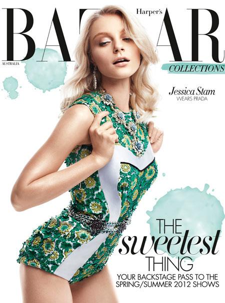 Jessica Stam Covers Harper's Bazaar Australia March 2012 in Louis Vuitton & Prada