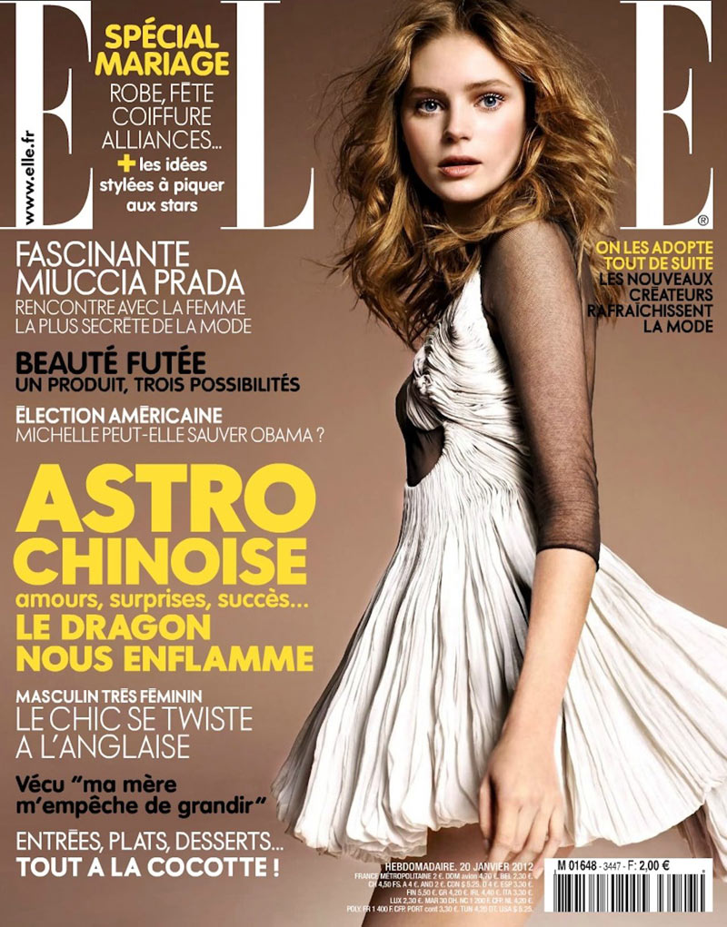 Juju Ivanyuk by Marcin Tyszka for Elle France January 2012