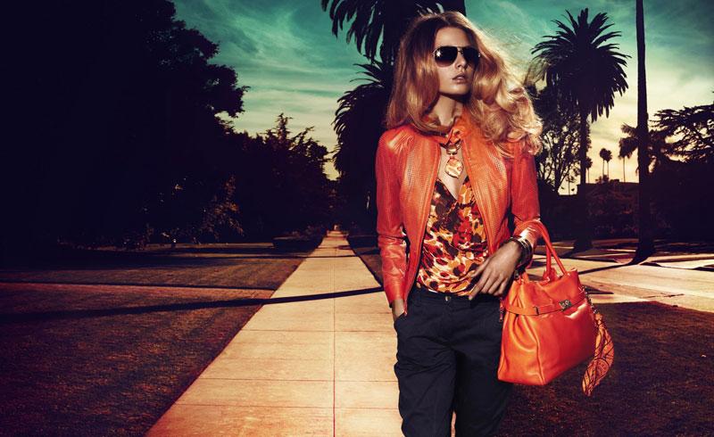 Hana Soukupova for Luisa Spagnoli Spring 2012 Campaign by Michelangelo di Battista