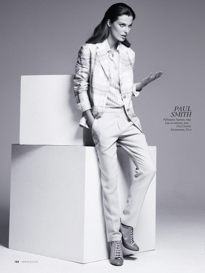Aurelie Claudel by Asa Tallgard for Elle Russia February 2012