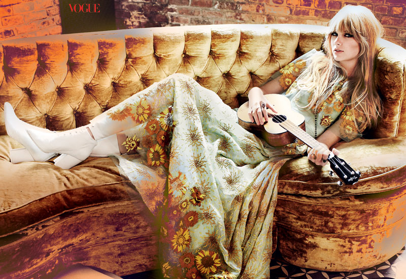 Taylor Swift by Mario Testino for Vogue US February 2012