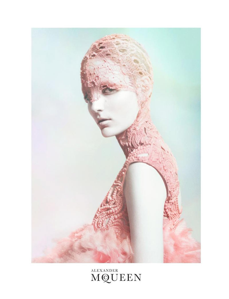 Zuzanna Bijoch for Alexander McQueen Spring 2012 Campaign by David Sims