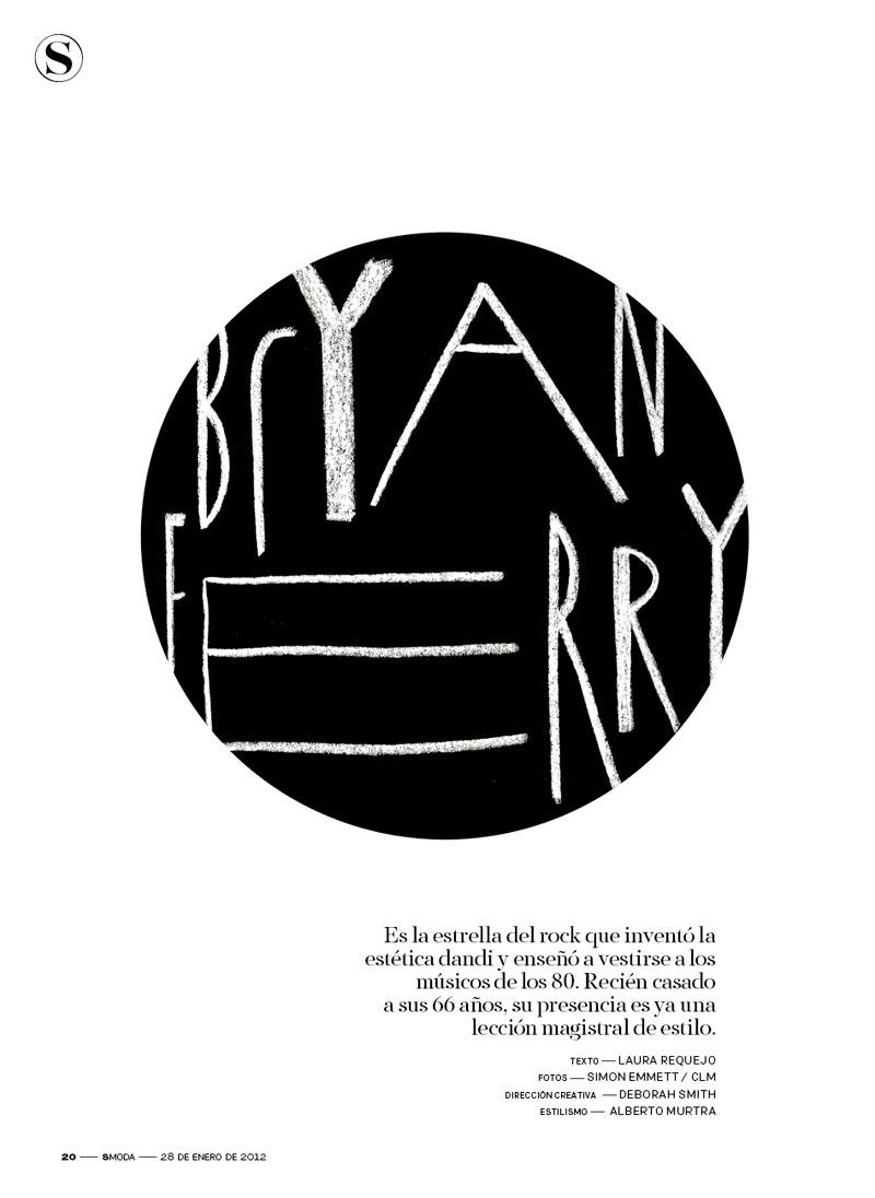Cara Delevingne & Bryan Ferry for S Moda January 2012 by Simon Emmett