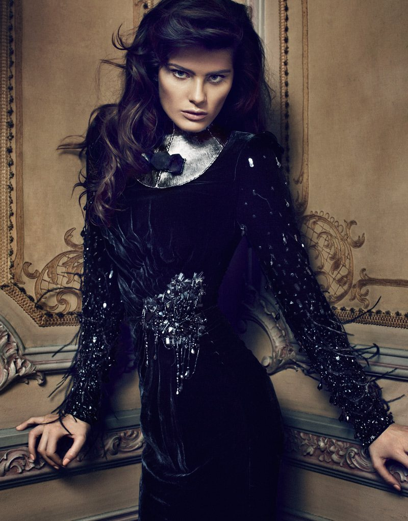 Isabeli Fontana Smolders in Luxe Style for Sergi Pons' El Pais Shoot