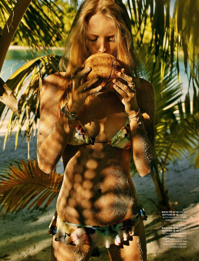 Eva Downey Sports Tropical Style for Cosmopolitan Australia November 2012 by Steven Chee