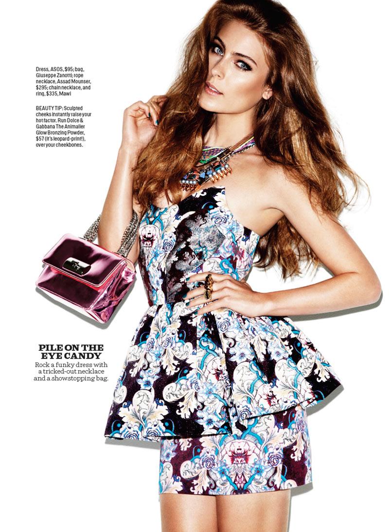 Ellie Ross is a Prints Master for Cosmopolitan November 2012 by Francisco Garcia