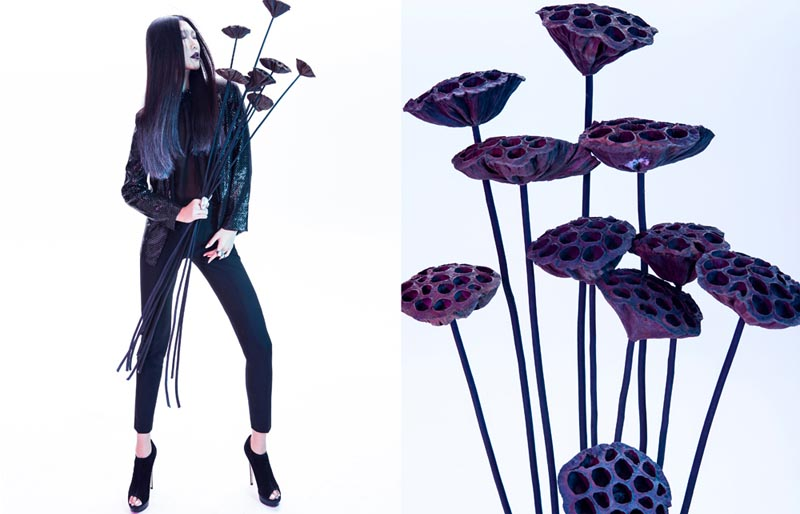 "Man Wang by Yang Wang in ""Flower Soul"" for Fashion Gone Rogue"