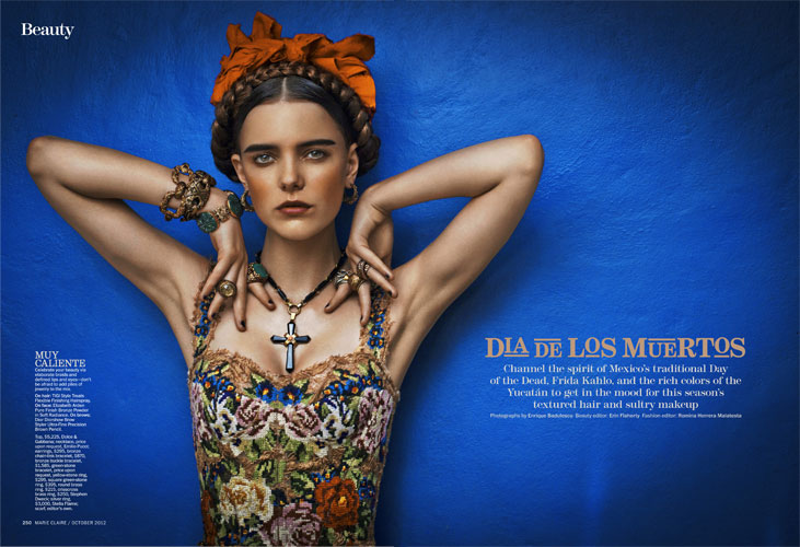 Imogen Morris Clarke Dons Folklore Style for Marie Claire US October 2012
