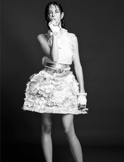 Kaya Scodelario Dons Chanel for Crash Magazine by Jermaine Francis