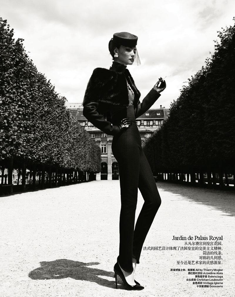 Miao Bin Si Takes Paris in Classic Fashion for Harper's Bazaar China October 2012