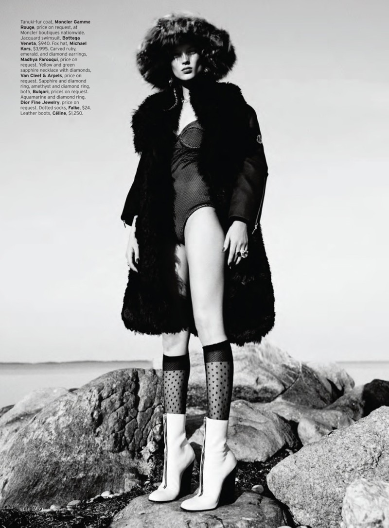 Naty Chabanenko Luxuriates in Eccentric Style for Thomas Whiteside's Elle US Shoot