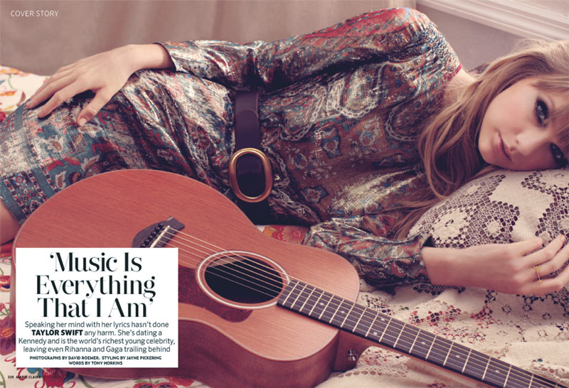 Taylor Swift Stars in Marie Claire UK's November Cover Shoot, Lensed by David Roemer