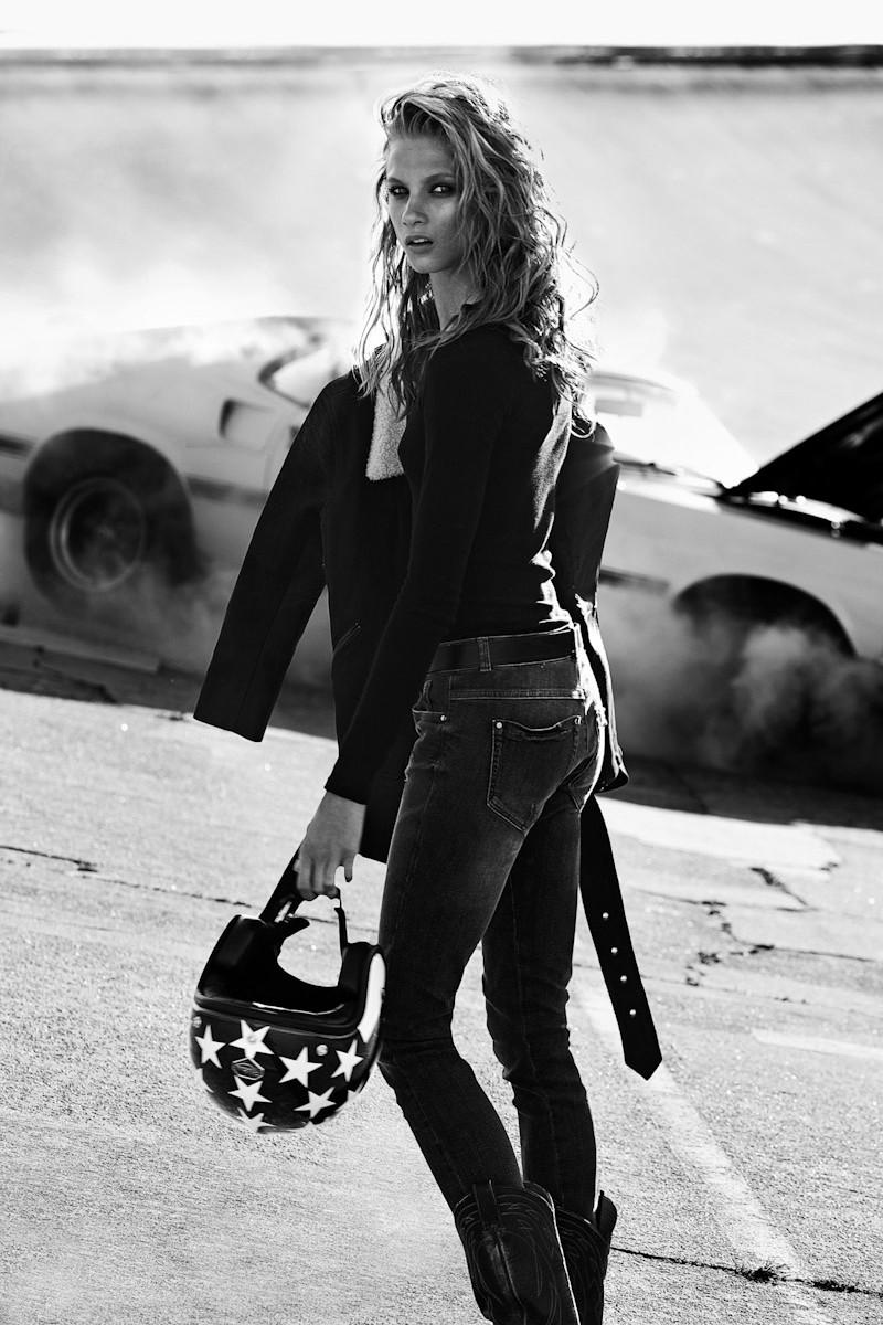 Anna Selezneva Rocks Biker Style for Vogue Paris November 2012 by Lachlan Bailey