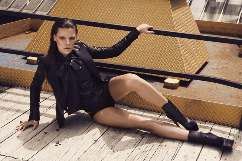Bekah Jenkins Lives in Leather for Malina Corpadean's Fashion Canada Shoot