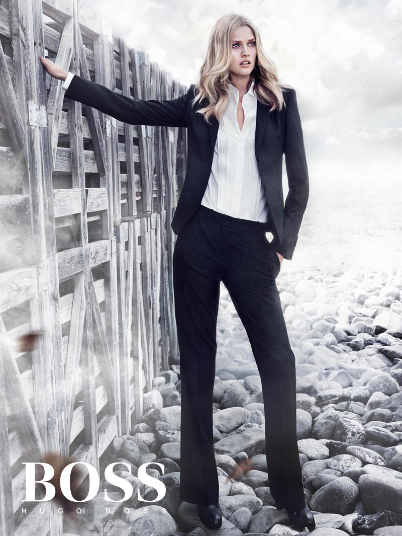Toni Garrn Looks Sharp in Hugo Boss Black's Winter 2012 Campaign by Hunter & Gatti