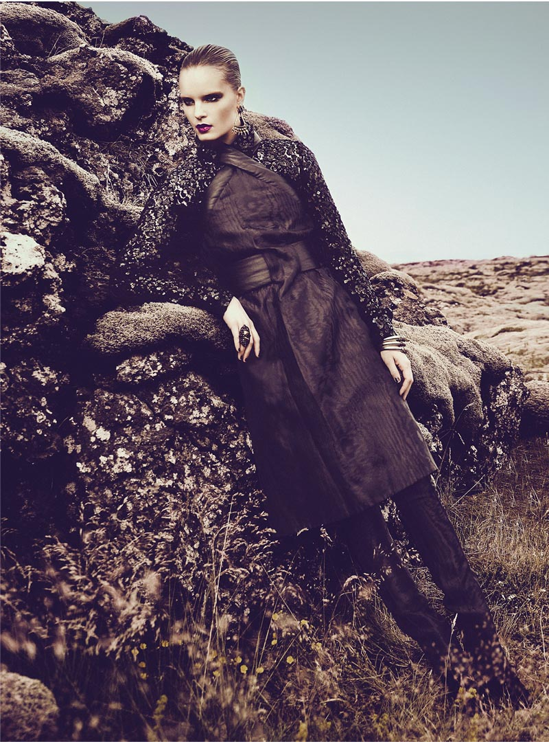 Charlotte Tomaszewska Dons Luxe Style for Vogue Portugal November 2012 by Kevin Sinclair