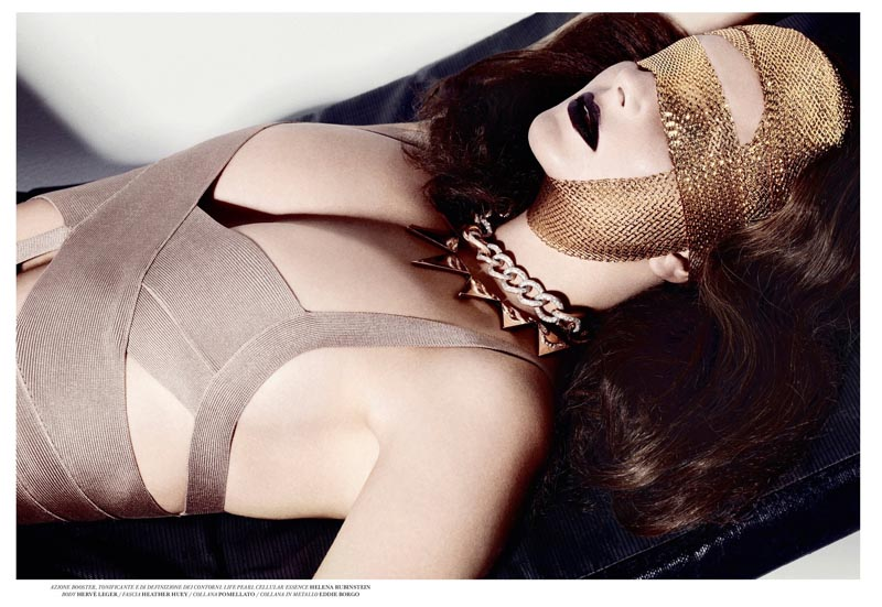 Eniko Mihalik Dons Daring Beauty for Flair Magazine