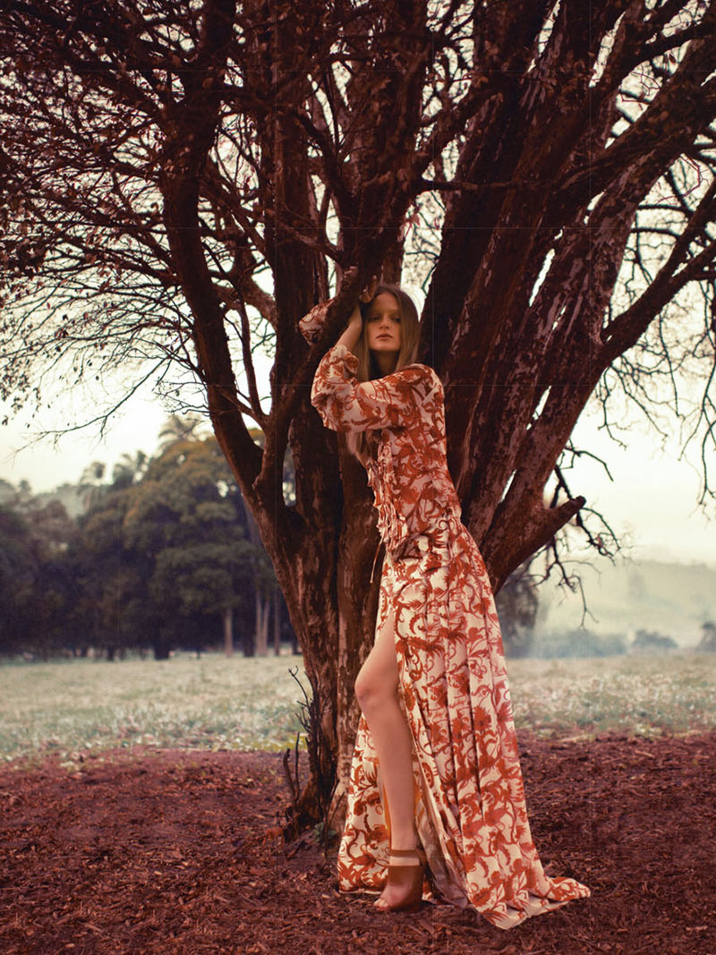 Bruna Erhardt is a Nature Girl for Essenciale's Spring 2013 Campaign by Gustavo Marx