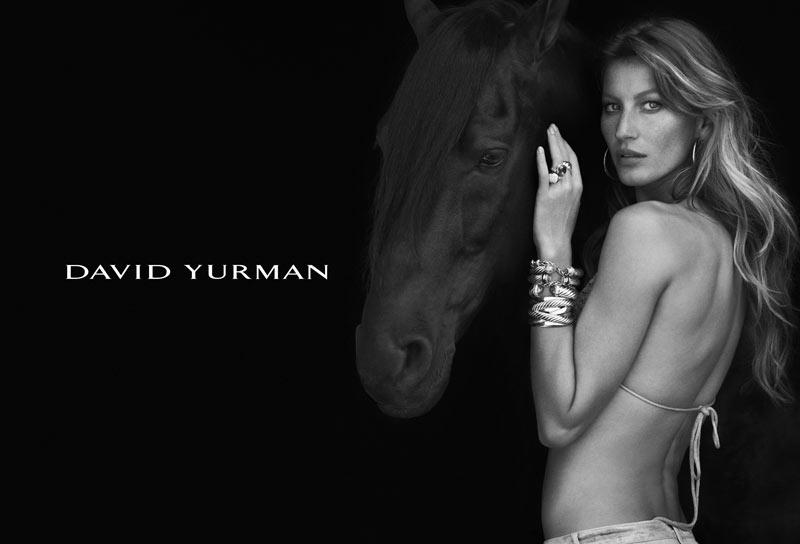 Gisele Bundchen Stuns in David Yurman's Fall 2012 Campaign by Peter Lindbergh
