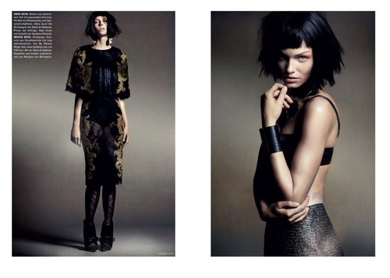 Honer Akrawi Lenses Baroque Punk Fashion for Madame Germany