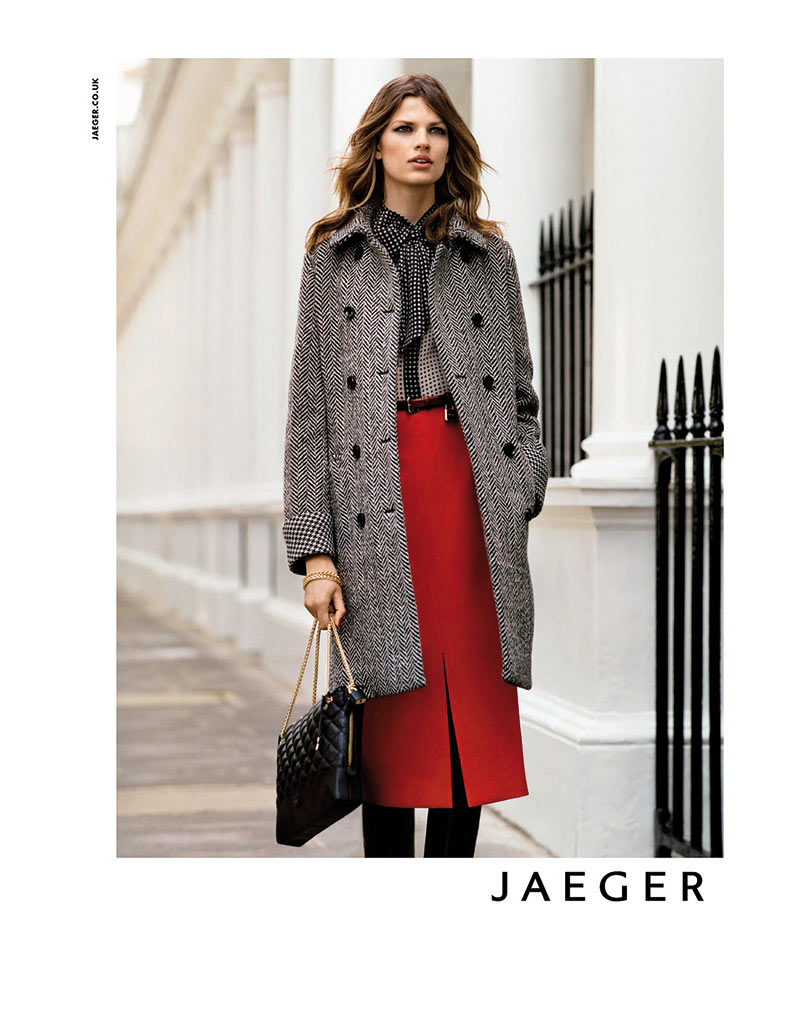 Bette Franke Fronts Jaeger's Fall 2012 Campaign by Alasdair McLellan