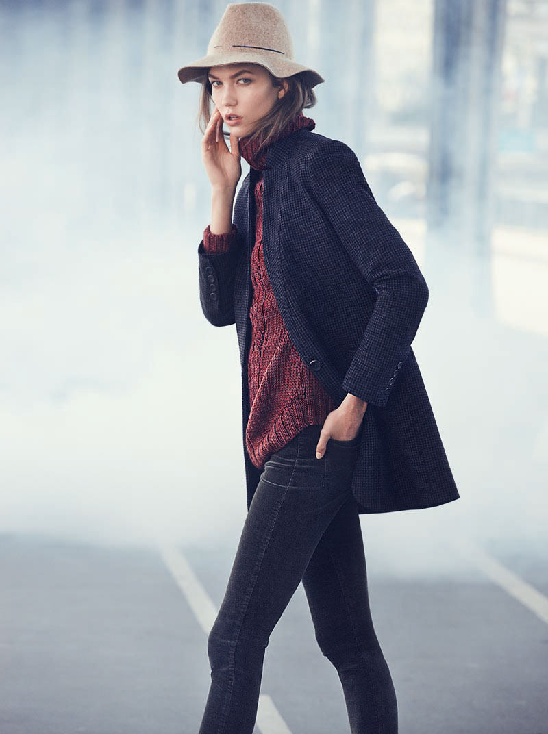 Karlie Kloss Stars in Mango's Winter 2012 Catalogue