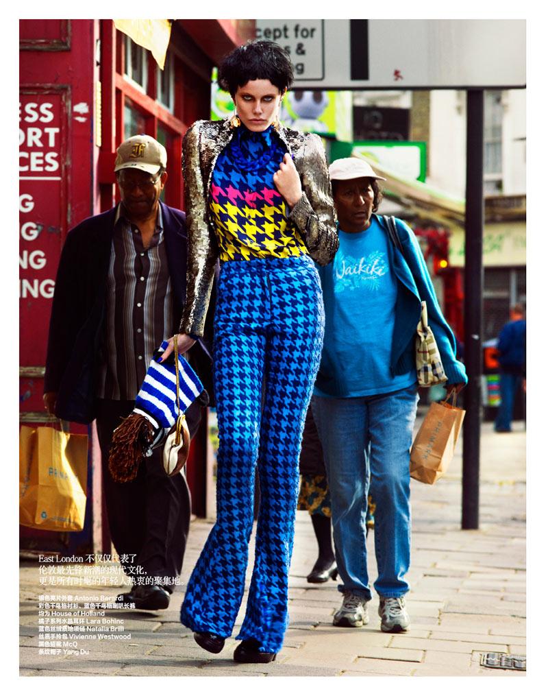 Ehren Dorsey and Alys Hale Model London Style for Harper's Bazaar China October 2012