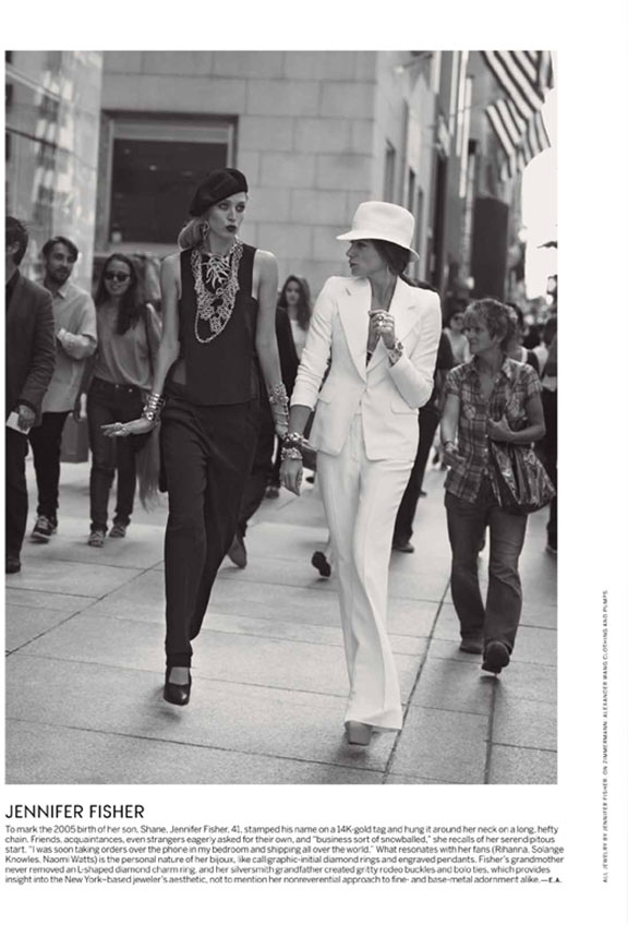 Raquel Zimmermann Joins Designers for Peter Lindbergh's Vogue US Shoot