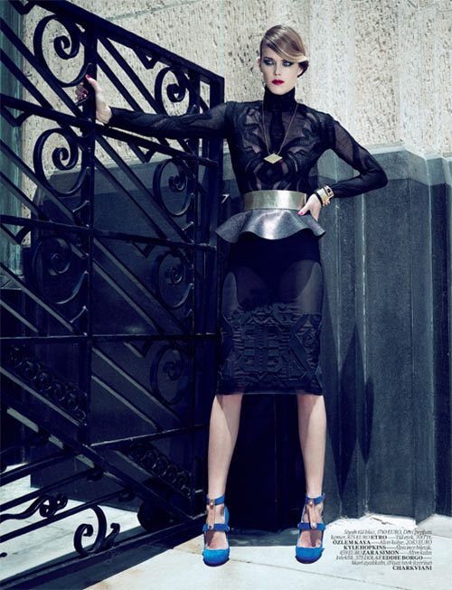 Shannan Click Shows Strength in Style for Vogue Turkey's October Issue