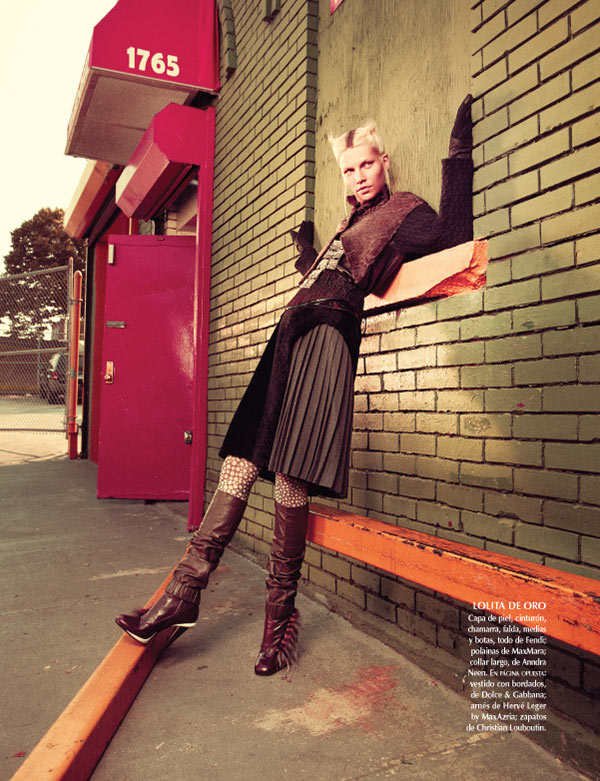 Aline Weber Dons Fashion with Edge for Vogue Mexico November 2012 by Andreas Sjodin