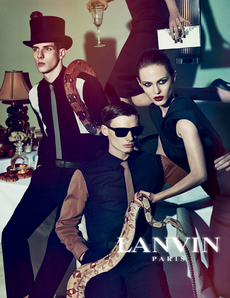 Aymeline Valade, Marte Mei van Haaster & Othilia Simon for Lanvin Spring 2012 Campaign by Steven Meisel