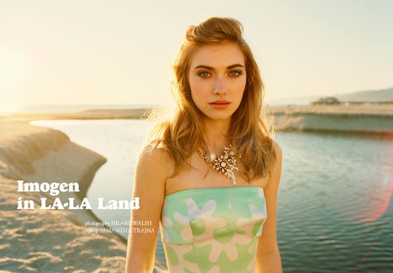 Imogen Poots by Hilary Walsh for Tank Spring 2012