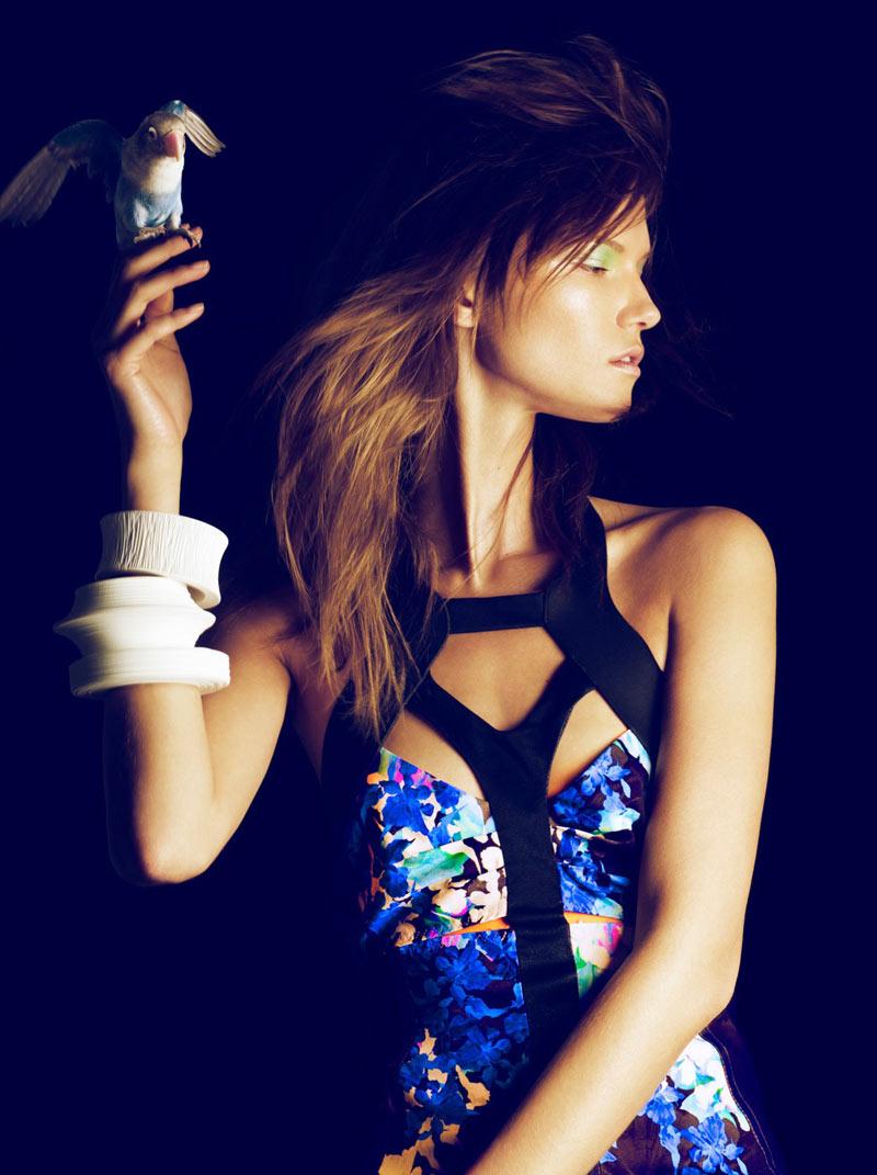 Kasia Struss by Nico for Harper's Bazaar Spain February 2012